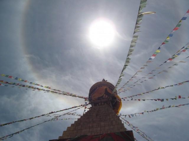 Boudhannath and Sun