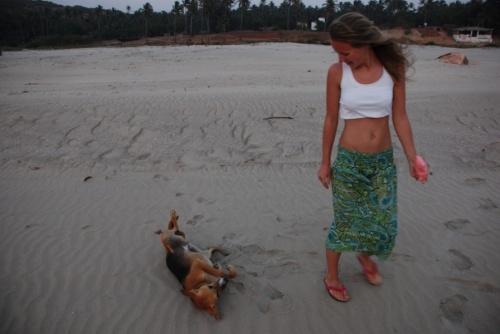 встреча на пляже)))