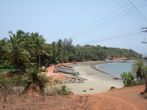 Дорога из Tadri через пляж