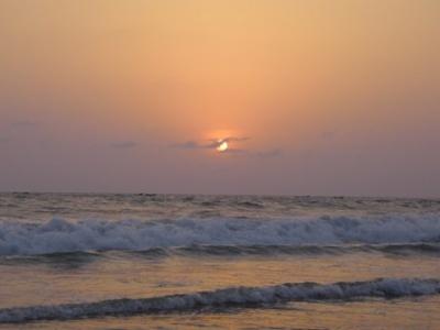 Colva Beach на закате (хоть и не комильфо)