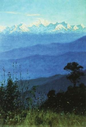Гималаи вечером. 1874-1876