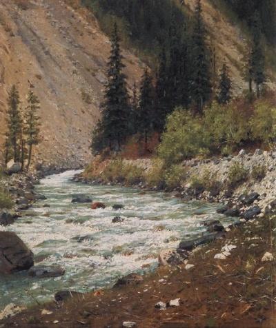 Горный ручей в Кашмире. 1874-1876