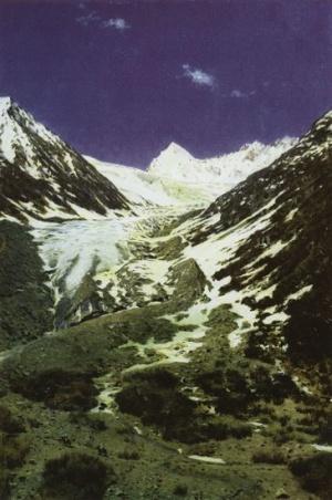 Ледник по дороге из Кашмира в Ладакх. 1874-1876