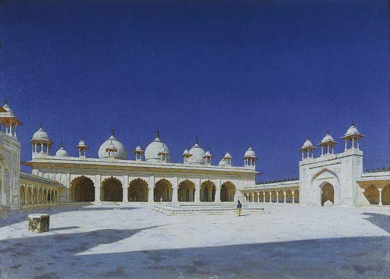 """Моти Масджид (""""Жемчужная мечеть"""") в Агре. 1874-1876"""
