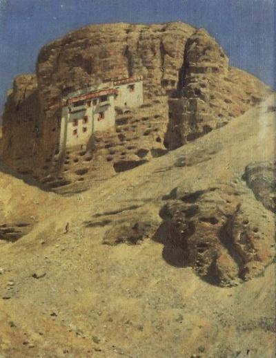 Монастырь в скале. Ладакх. 1875