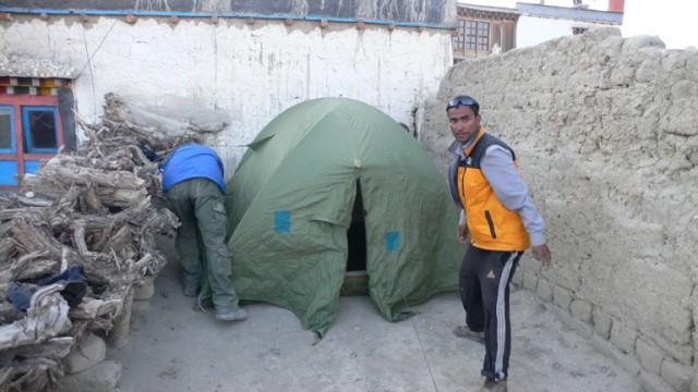 палатка на крыше