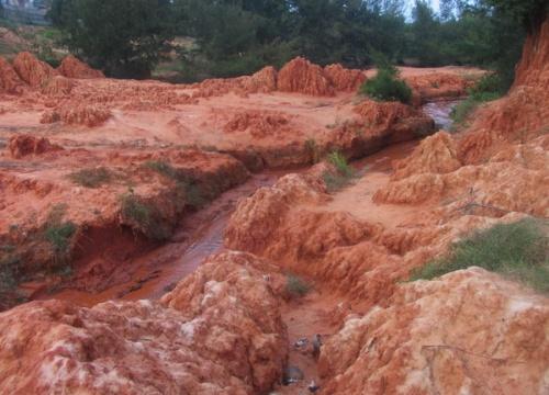 Начало красного каньона