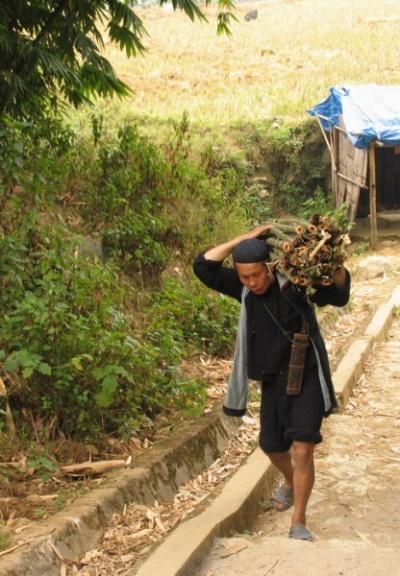 работают хмонги почти всегда в национальной одежде