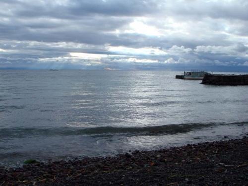 рассвет на Титикака: к сожалению, облака...