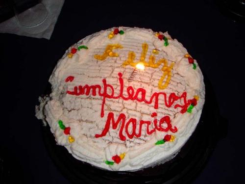 мой персональный тортик: Feliz cumpleanos, Maria! :)