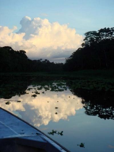 закат на Амазонке