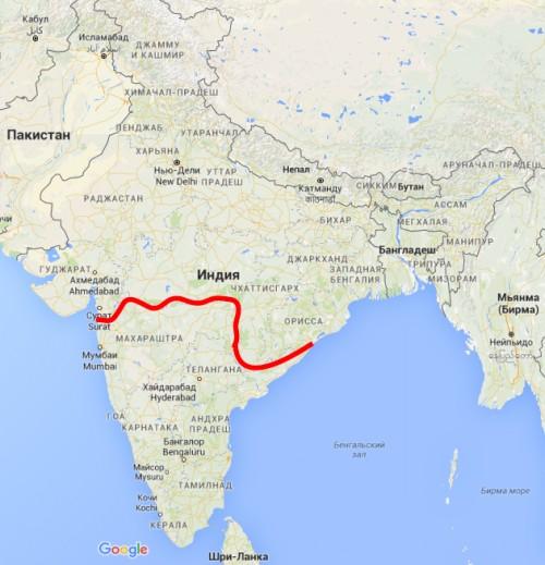 Граница между северной и южной Индией