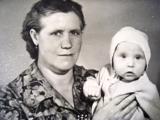 а это с бабушкой