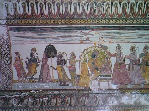 Орча,фрагмент фрески