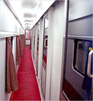Aisle in the First class