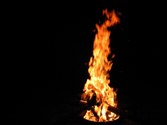 New year's bonfire