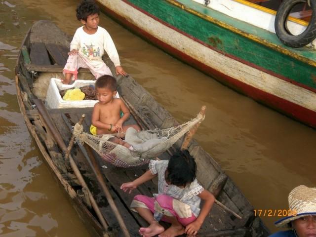 Деревня рыбаков на воде