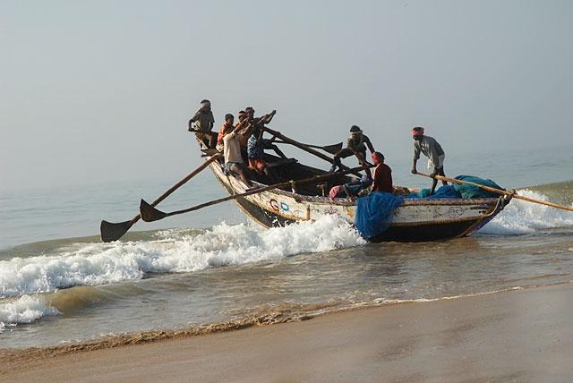 это так рыбаки выходят в море