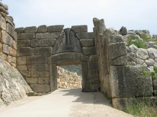 Микены, Львиные ворота, ориентировочно 15 век до н.э.