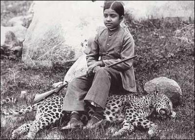 дочь махараджи на охоте