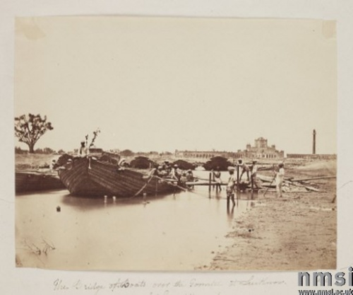 Boat in Gomti River, Lucknow about 1858