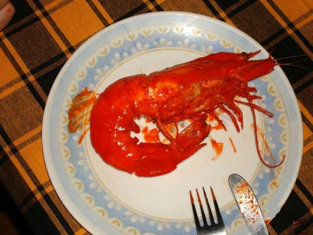 креветка на всю тарелку
