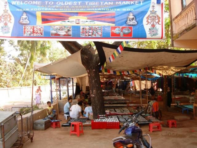 Калангут. Тибетский рынок.