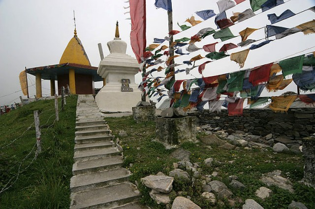 Cosma. Prayer flags