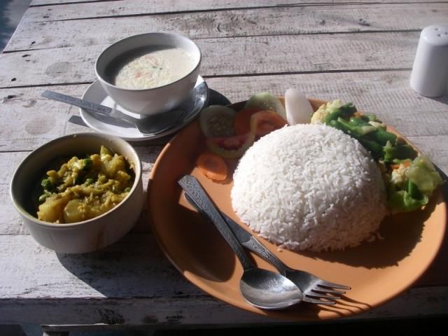 вегетарианский обед