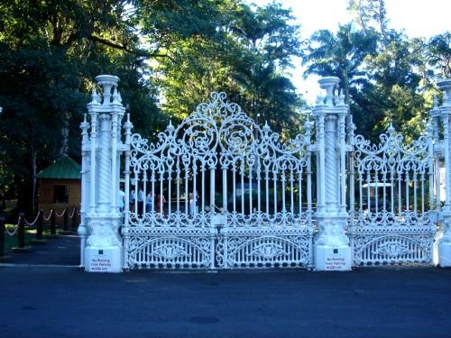 Кованые ворота ботанический сад Памплемусс