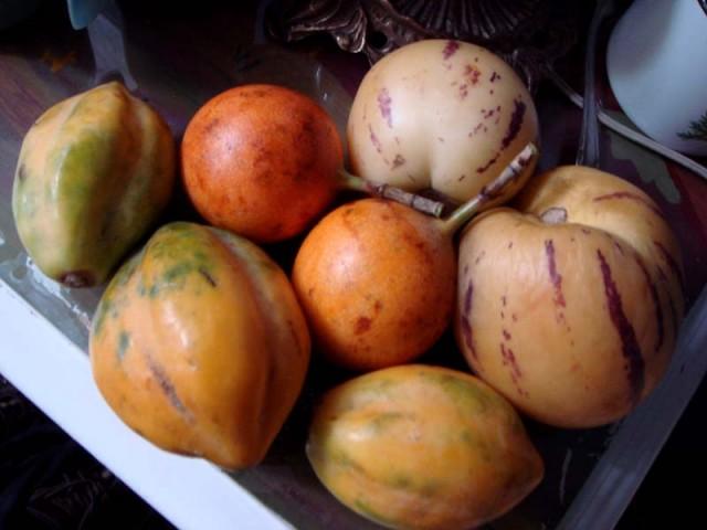фрукты Перу (гренадилла - в центре)