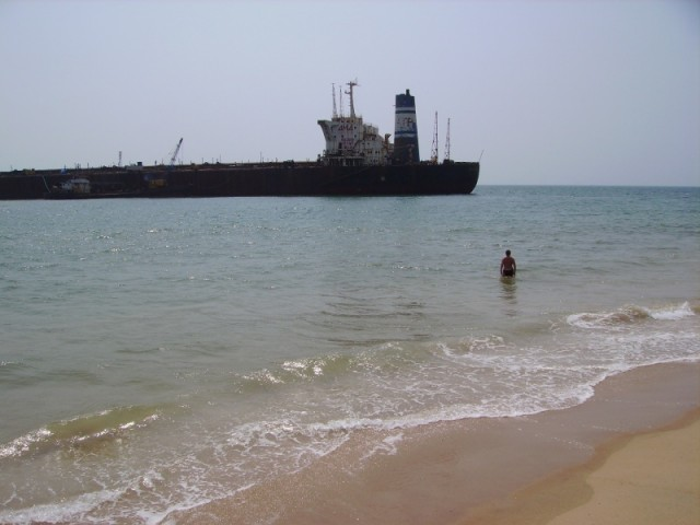 Candolime Beach, the River Princess...