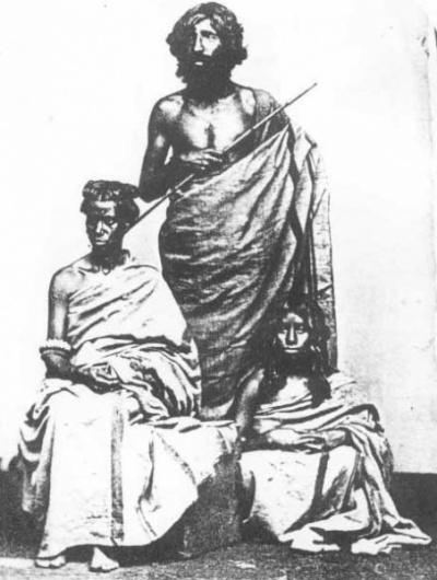 Toda family, Nilgiri Hills, 1870