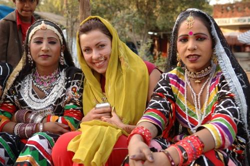 с раджастанскими красавицами