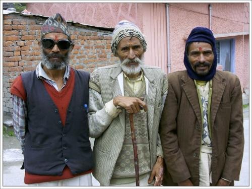 Дедушки в Бадринатхе