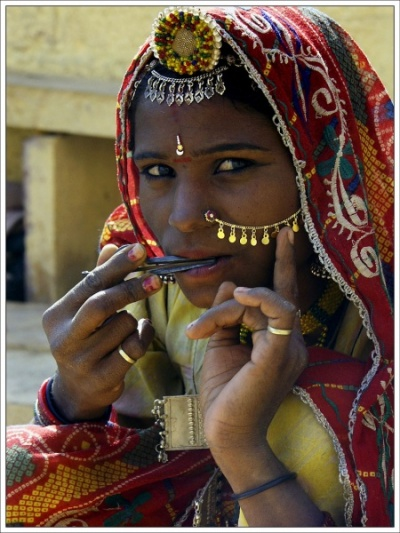 Женщины Раджастана. Джайсалмер