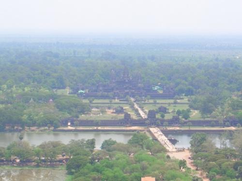 Вид на Ангкор Ват с воздушного шара