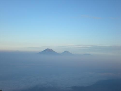 Вид с вулкана Мерапи, остров Ява
