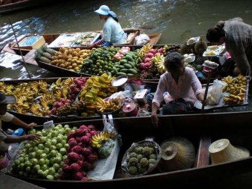 Плавучий рынок, Тайланд