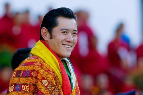 His Majesty Jigme Khesar Namgyel Wangchuck smiles...