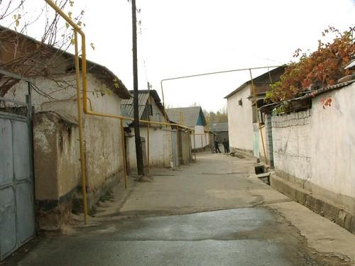 Улица в кишлаке. Окраина Душанбе