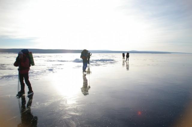 Солнечный лёд Монголи.