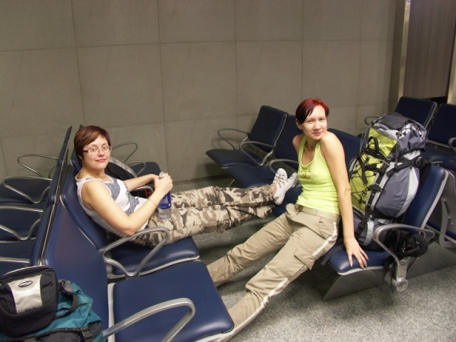 в аэропорту Мумбаи