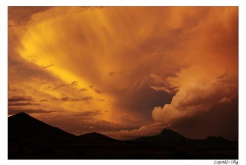 Закат на нагорье Кару