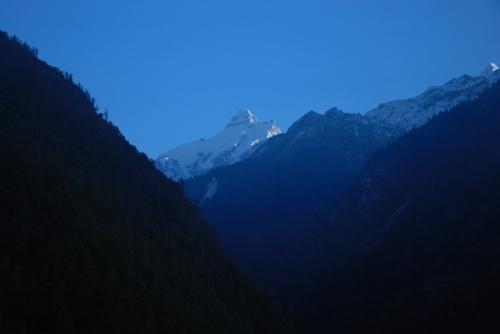Rentsam, вид на Ganesh himal
