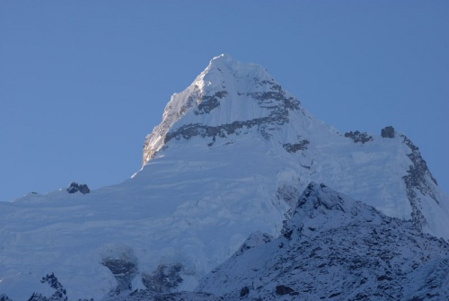 вершина Ganesh himal, рассвет