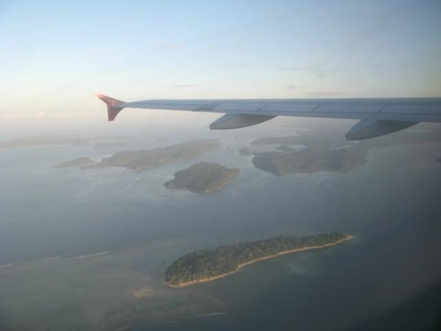 4 утра, на подлёте к Port Blair