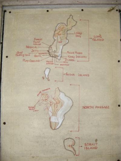 Карта на стене полицейского участка