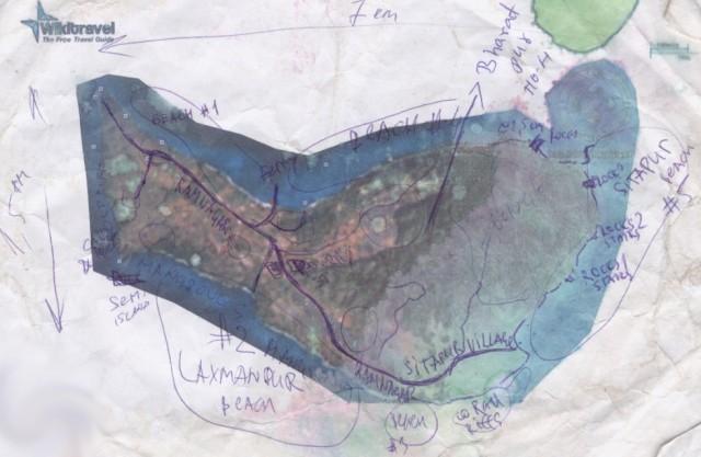 То, что осталось от моей карты Нэйла после падения со шмотками в прилив со скал. Более точная, чем испанская