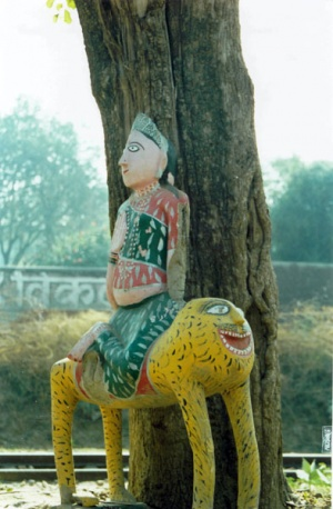 Народное творчество: Богиня Кали на тигре